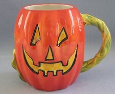 Pumpkin Mug Susan Winget Ceramic Halloween Certified International 22 fl oz NEW