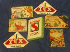 7 Vintage Sewing Needle Cases Safeway Happy Home Trojan Advertising Ephemera