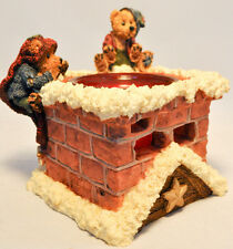 Boyds Bears: Elgin & Elliot The Elves . Toasty Warm - 02771 - Candle Holder
