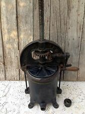 Antique Cast Iron Enterprise Mfg Co. Fruit/Lard/Wine Press/Sausage Stuffer Vintg