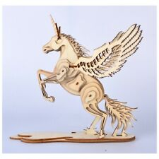 Birthday Gift DIY Assembly 3D Puzzle Unicorn Horse Paintable Educational Toy
