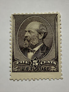 US Stamp Sc# 205 Garfield Yel-brown 5 Cent Mint No Gum F/VF