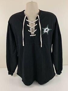 Dallas Stars Black Spirit Jersey Womens Size M Medium NHL Hockey USA Made EUC