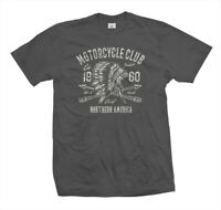 T-Shirt Apache | Motorcycle Club Motorrad Biker Kustom Bike USA Indian grau !!!!