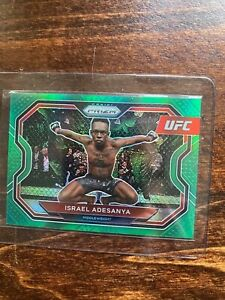 2021 Panini UFC Prizm Israel Adesanya Green Pulsar