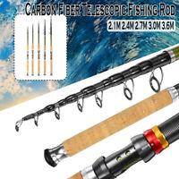 2.1/2.4/2.7/3.0/3.6m Carbon Fiber Fishing Rod Freshwater Telescopic Poles Tool
