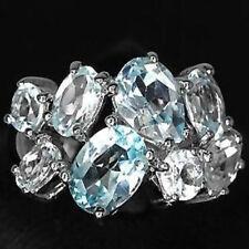 Topaz Band Oval Not Enhanced Fine Gemstone Rings