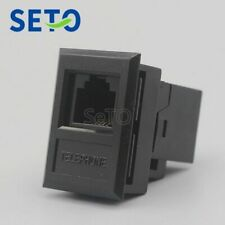 SeTo RJ11 Cat3 Telephone Plug Module Black RJ11 Cat3 Keystone Wall Plate Socket