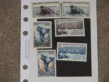 French Antarctic, Scott# 2-7, light hinge