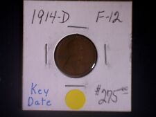 1914-D 1C, Lincoln Cent, Key Date, F