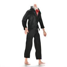 2 piezas / set ropa de traje negro hecho a mano para Ken Male Dolls VP