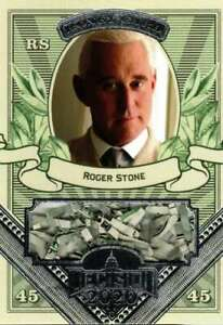 2020 Leaf Decision Money Card Relic #MO37 Roger Stone