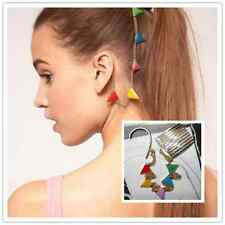 Celeb style fashion Egyptian Gold tone rainbow Hair Comb Chain Clip accessories