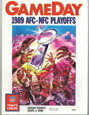 1989 NY Giants vs LA Rams NFL NFC Divisional Playoff Game Program VERY GOOD Cond