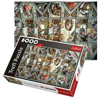 Trefl 6000 Piece Adult Large Sistine Chapel Wall Ceiling Floor Jigsaw Puzzle NEW