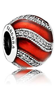 PANDORA Charm Sterling Silver ALE S925 CHRISTMAS ADORNMENT RED  791991EN07