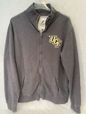 University of Central Florida UCF Knights Zippered Fleece Jacket XL Gray Grey