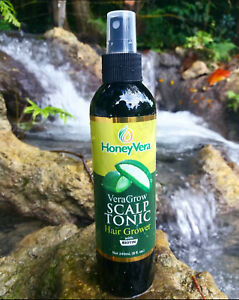 Honey Vera Scalp Treatment Tonic With Biotin. 100% Natural Hair Grower