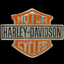 Harley-Davidson Motorcycle Bar Shield Logo Biker Brass Rare NOS Vtg Belt Buckle