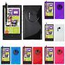 Custodia Protettiva per Nokia Lumia 1020 Silicone TPU Flip Cover Nera