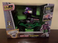 New listing New Bright R/C Monster Jam Grave Digger Carnage Creature Moving Arms Head Nib