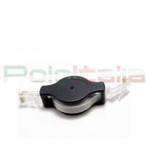 Cavo di RETE Ethernet Lan Retrattile Piatto Cat.5e RJ45 | retraibile avvolgibile