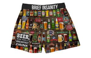Brief Insanity Beer for Breakfast Bud Ale Brew Boxer Shorts Underwear 7035