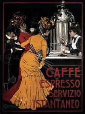 ADVERT COFFEE ESPRESSO INSTANT SERVICE ITALY EDWARDIAN POSTER PRINT BB1750A