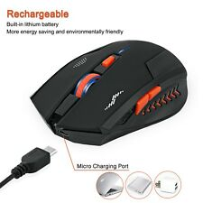 Rechargeable Wireless Mouse 2400DPI 2.4G USB Laser Gaming mouse Silence Built-in