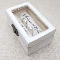 Personalised Ring Box, Ring Bearer Box, Custom Ring Holder, Rustic Wedding Box