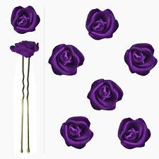 6 épingles pics cheveux chignon mariage mariée danse roses satin violet intense