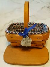 "longaberber small basket -cat tag- 2001 - 5 Pc set - 6""x6""x4' - signed / dated"