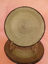 Blue Ridge Pottery LUNCHEON PLATE Gray with Black Circles 1 of 3 Have more items