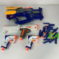 Lot of 4 Nerf Dart Guns Firefly REV-8, Barrel Strike Modulus, and 2 Triad EX-3