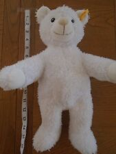 Steiff baby white teddy bear, embroidered foot. Button in ear     (2/4)