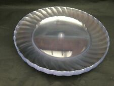 "10 X Clear Round Plastic dinner plate 25 Cm  10"" For Party and all occasion"