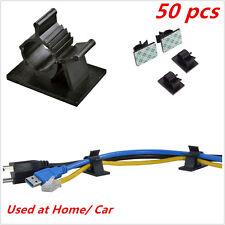 50Pc Car Auto Cable Wire Adjustable Nylon Clip Fasten Organizer 3M Self-Adhesive