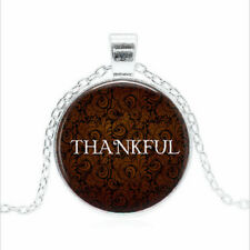 THANKFUL Tibet silver Glass dome Necklace chain Pendant Wholesale