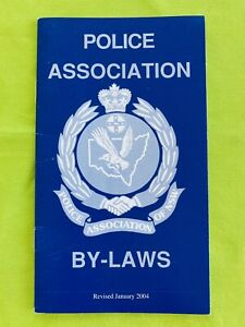 Vintage: Police Association Of NSW BY-LAWS (2004). 16 Pages. Like New. Obsolete.