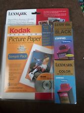 Lexmark Black 12A1970 Color 12A1980 Combo Digital Photo Printing Collection NIP