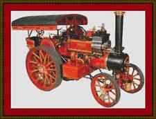 Steam Traction Engine Cross Stitch Kit