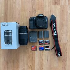 Canon EOS 50D 15.1MP Digital SLR Camera - Black with extras