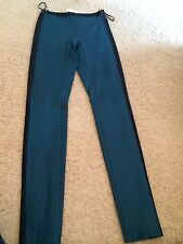 **LES CHIFFONIERS** Two Tone Leather Leggings Trousers FABULOUS and THE BEST!