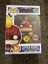 #433 Edición Especial Marvel Capitán Marvel brillan en la oscuridad Funko Pop Vinilo
