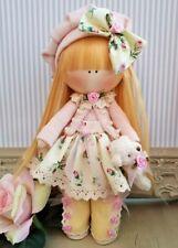 Rag doll handmade Home decor Tilda doll Rag Ooak doll BELLA  8 inch tall