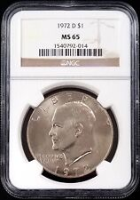 1972 D Eisenhower Dollar certified MS 65 by NGC!