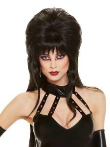 Elvira Wig Mistress Of The Dark Womens Halloween Costume Cosplay Vampire Black