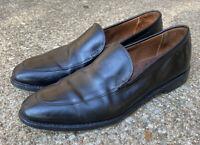 Allen Edmonds Steen Black Slip On Leather Split Toe Loafers Mens 12 D USA Made