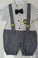 Baby Boy Romper With Bow Tie
