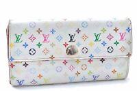 Auth Louis Vuitton Monogram Multicolor Portefeuille Sarah Wallet M93532 LV B6983